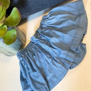 Gap girls chambray skirt